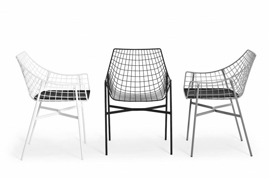 chaises design grillagés