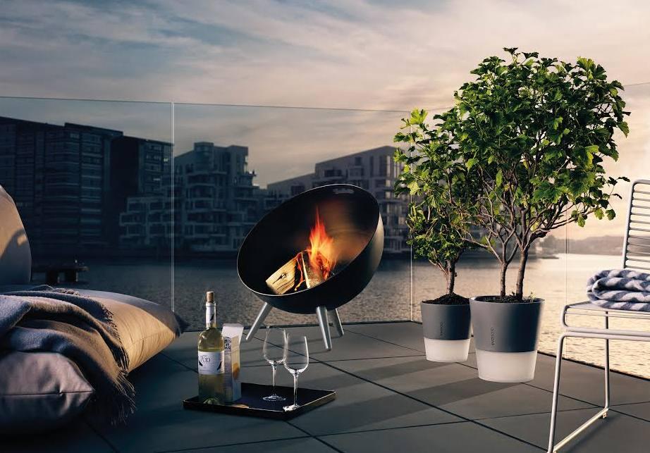 JC EvaSolo, FireGlobe, Selfwatering flowerpots paysage