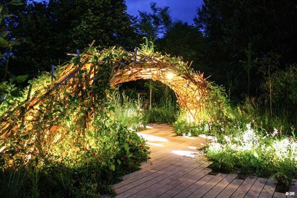 Création de lumière pour les jardins de lumière du domaine de Chaumont-sur-Loire