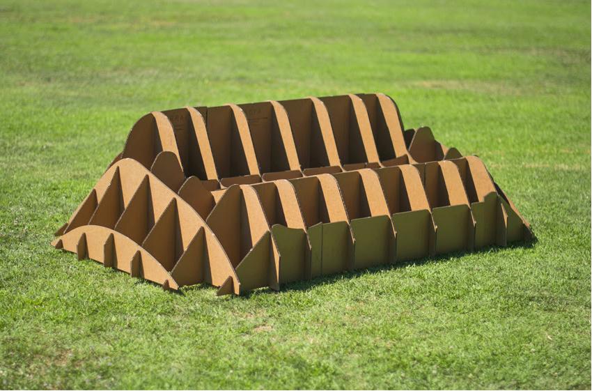 Structure du Sofa Terra en carton