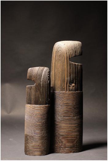 Sculpture en Épicéa et Frêne de Thierry Martenon