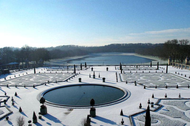 Château de versailles jardins en hiver
