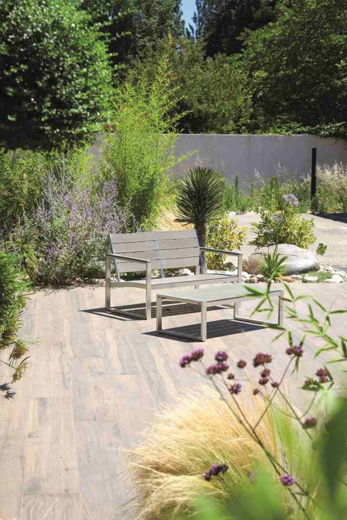 jardin urbain banc