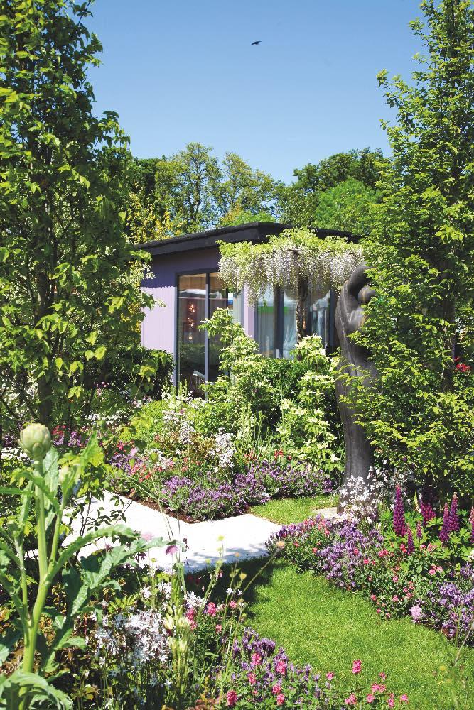 jardin joyeux et coloré