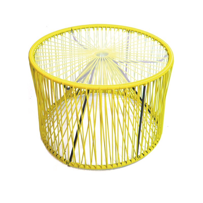 table basse cordage jaune