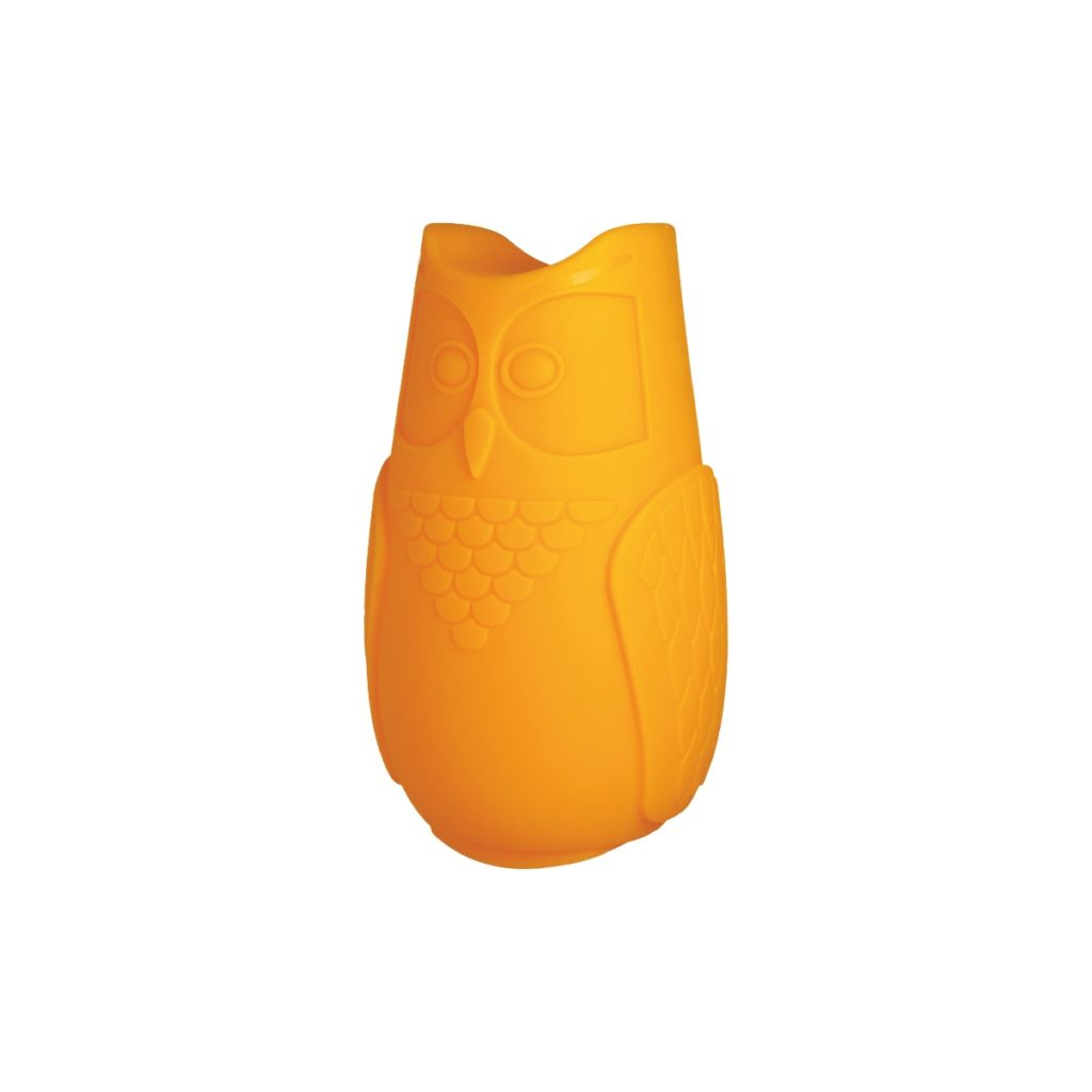 lampe hibou led orange
