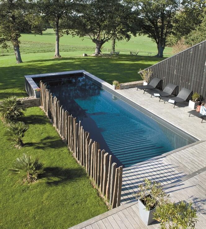 Des piscines bien intégrées au jardin - Extérieurs design