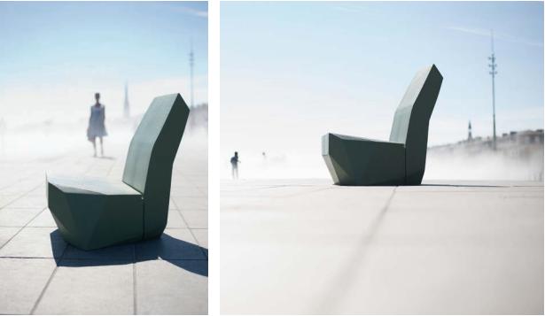 biennale d'architecture fauteuil béton ductal crocos de ville