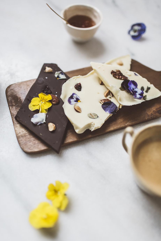 Cuisine végétale avec fleurs et chocolat, recette de Ma Plante Mon Bonheur