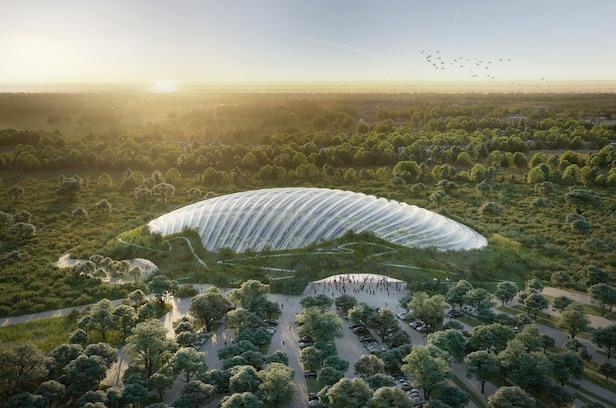 Dôme de la serre Tropicalia © site Coldefy & Associés, Architectes Urbanistes