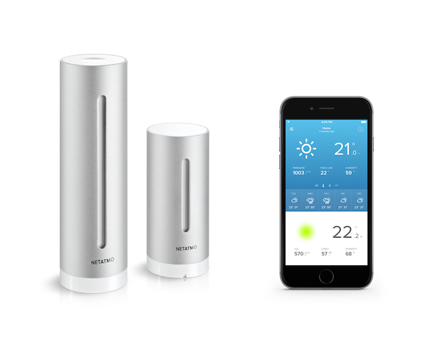 Station météo individuelle et application Netatmo Weather sur iPhone, Netatmo