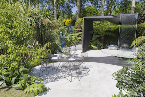 VTB Capital Garden – Spirit of Cornwall. Designed by: Stuart.Charles Towner. Sponsored by: VTB Capital. RHS Chelsea.Flower Show 2018. Stand no. 326 © RHS