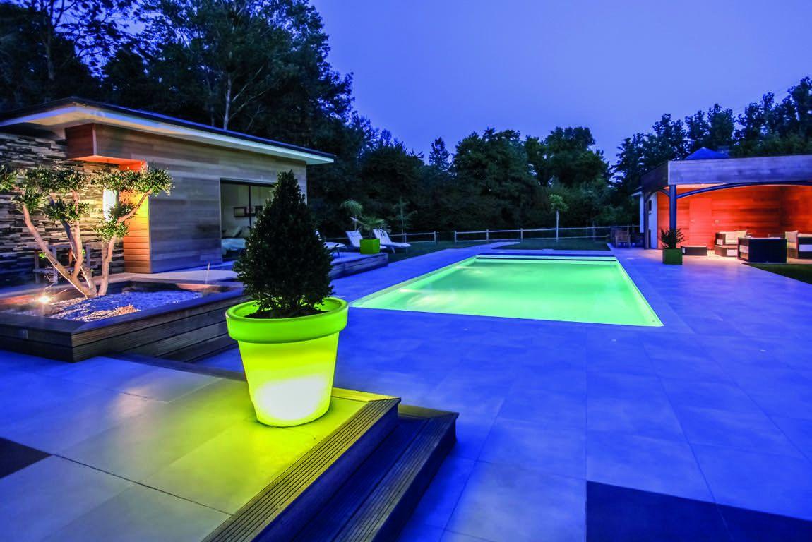 piscine lumière design