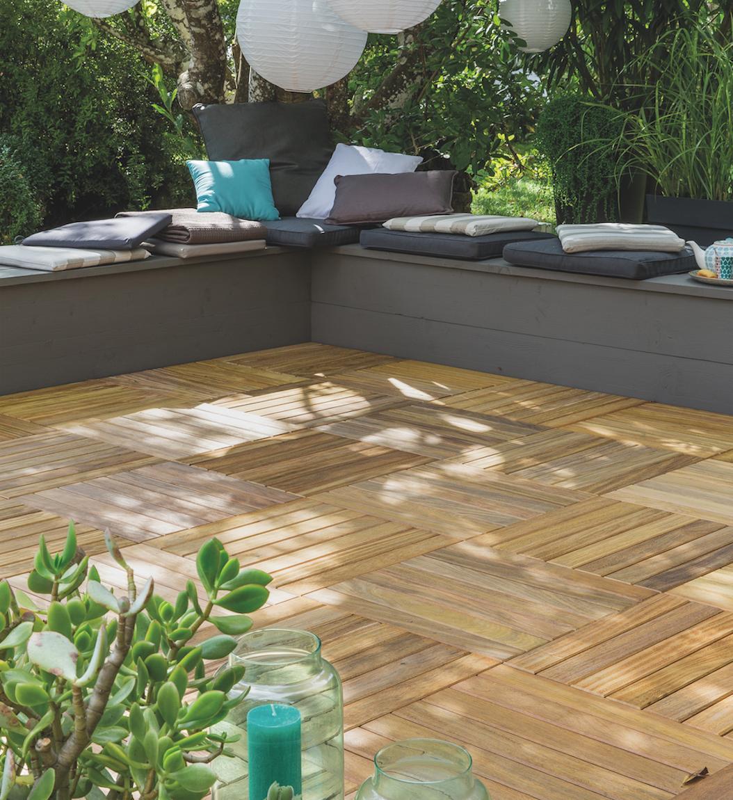 Dalle Schiste Leroy Merlin pieds nus au jardin - extérieurs design