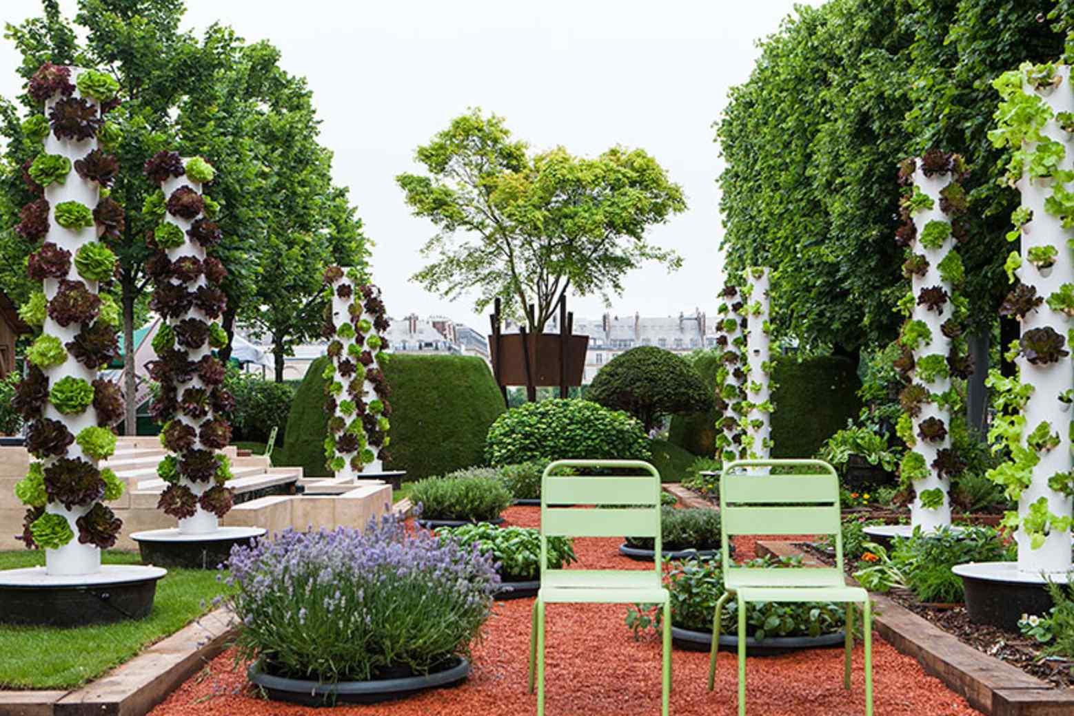 Jardins, Jardin aux tuileries 2016, création de Olivier Riols pour Capsel Paysage