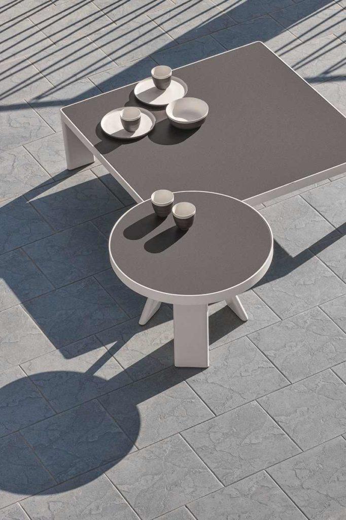 Esedra tavolinibassi laminam table