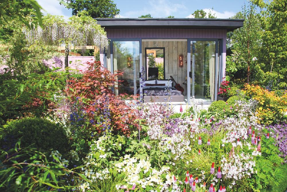 chambre avec vue sur jardin