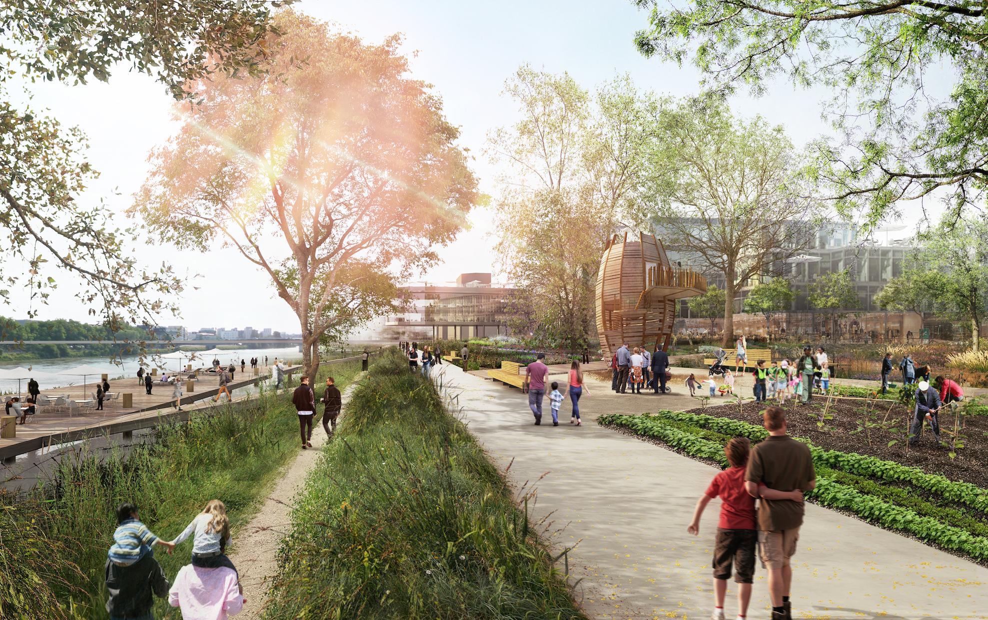 Transformation urbaine des bords de Loire (Place de la Petite Hollande, Gloriette, Canal Saint-Félix, Quai de la Fosse) à l'horizon 2030 agence TER